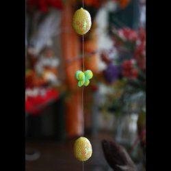 Γιρλάντα με πασχαλινά αυγά και πεταλούδες, μήκους 1.55μ