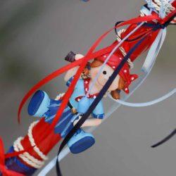 Πασχαλινή Λαμπάδα χειροποίητη πειρατίνα - μαγνητάκι