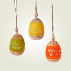 Ξύλινο κρεμαστό αυγό