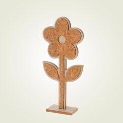 Λουλούδι ξύλινο, διακοσμητικό, ύψους 34cm