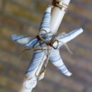 Πασχαλινή Λαμπάδα χειροποίητη με γαλάζιο αστερία