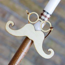 Πασχαλινή Λαμπάδα χειροποίητη με μουστάκι