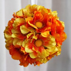 Ανθόμπαλα πορτοκαλί διαμέτρου 15cm