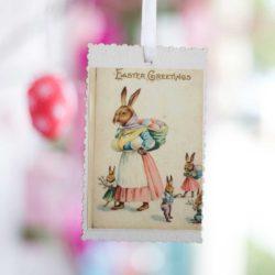 Κάρτα κρεμαστή με λαγουδίνα