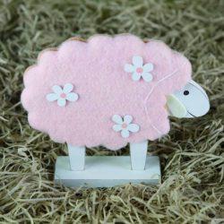 Προβατάκι ροζ, ύψους 20cm