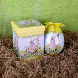 Αυγό κίτρινο σε κουτί, ύψους 15cm