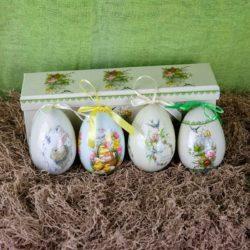Αυγά σε κουτί, ύψους 10cm, ΣΕΤ/4