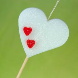 Λαμπάδα αρωματική με καρδιά, ύψους 28cm