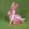Λαγουδάκι ροζ, ύψους 15cm