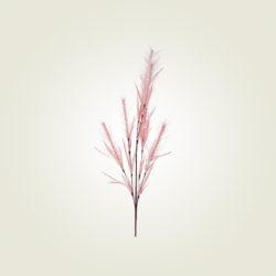 Κλαδί με πούπουλα ροζ.