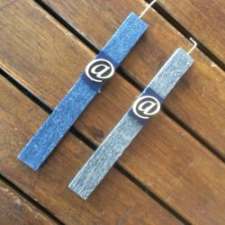 Λαμπάδα ξυστή αρωματική με σύμβολο παπάκι, ύψους 29cm
