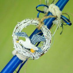 Λαμπάδα µπλε ναυτική, ύψους 35cm