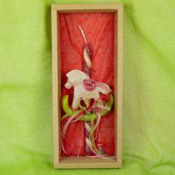 Λαμπάδα με κέρινο άλογο, ύψους 27cm